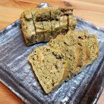 スイーツサービス第4弾「自家製 抹茶と生姜のパウンドケーキ」